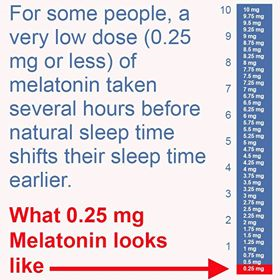 low dose melatonin hours before sleep